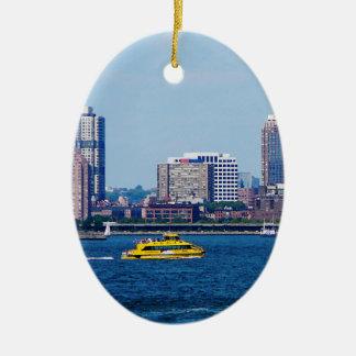 New York Water Taxi Ceramic Ornament