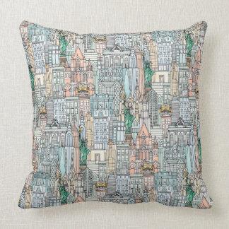 New York watercolor Throw Pillow