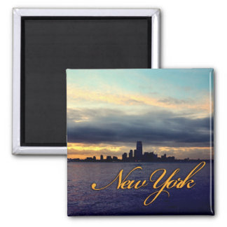 New York Waterfront Sunset Magnet