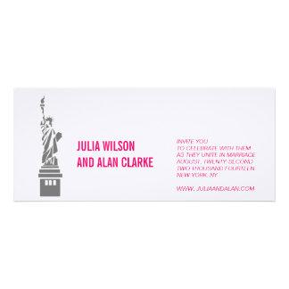 New York Wedding Invitation Hot Pink Names