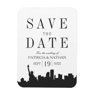 New York Wedding Minimal Save the Date Magnet