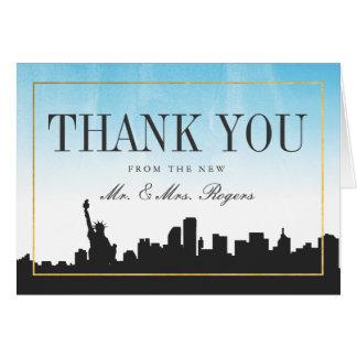 New York Wedding Thank You Card