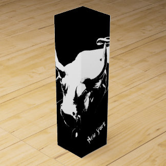 New York Wine Box Bull Statue New York Souvenir