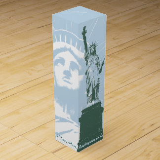 New York Wine Box Statue of Liberty New York Box