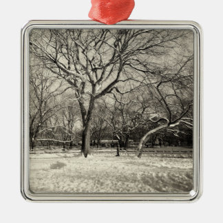 New York Winter - East Village Snow Metal Ornament