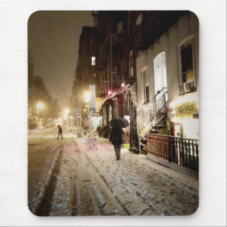 New York Winter - Snow on the Lower East Side Mouse Pad
