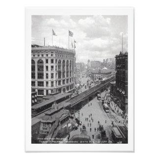 New York, year 1902, 6th Avenue and 33rrd street Art Photo