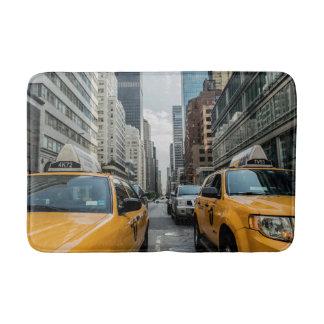 New York Yellow Taxi Cabs Bath Mat