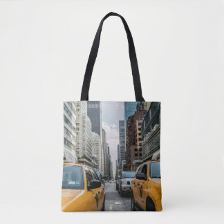 New York Yellow Taxi Cabs Tote Bag