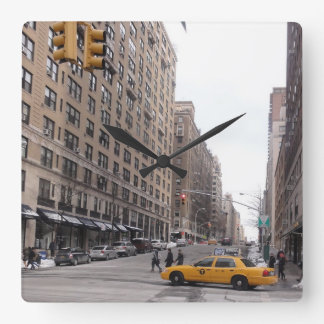 New York Yellow Taxi Square Wall Clock