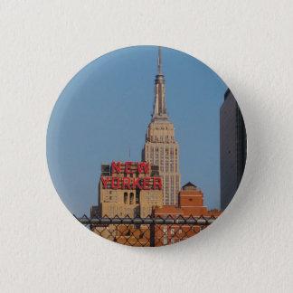 New Yorker 2 Inch Round Button