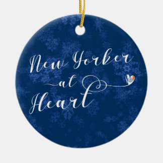 New Yorker At Heart Holiday Decoration, NYC Ceramic Ornament