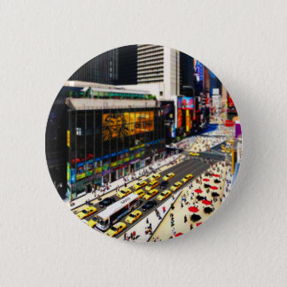 New York's Times Square in miniature 2 Inch Round Button