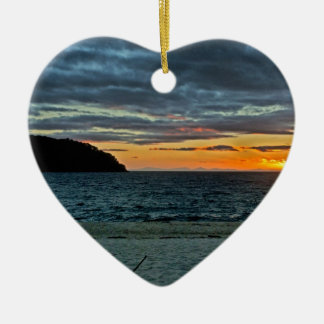 New Zealand Abel Tasman Sunset Ceramic Ornament