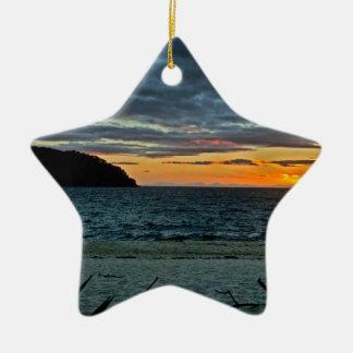 New Zealand Abel Tasman Sunset Ceramic Ornament