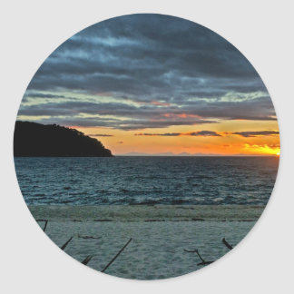 New Zealand Abel Tasman Sunset Classic Round Sticker