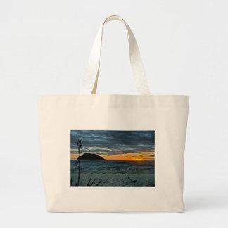 New Zealand Abel Tasman Sunset Large Tote Bag