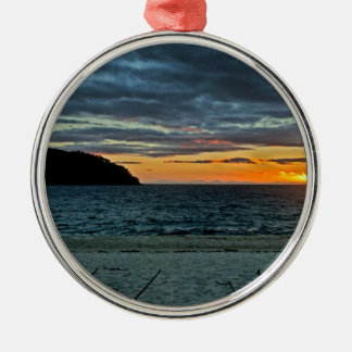 New Zealand Abel Tasman Sunset Metal Ornament