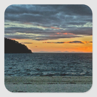 New Zealand Abel Tasman Sunset Square Sticker