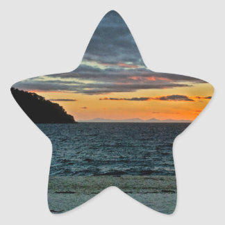 New Zealand Abel Tasman Sunset Star Sticker