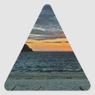 New Zealand Abel Tasman Sunset Triangle Sticker