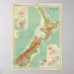 New Zealand Atlas Map Poster