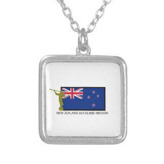 NEW ZEALAND AUCKLAND MISSION LDS CTR SILVER PLATED NECKLACE
