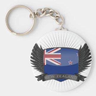 NEW ZEALAND BASIC ROUND BUTTON KEYCHAIN