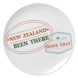 New Zealand Been There Done That Plate