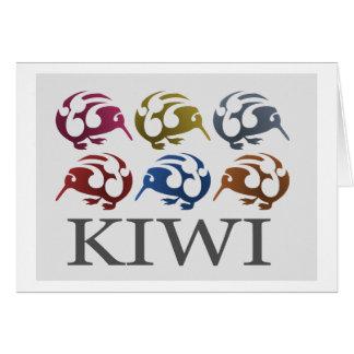 New Zealand birds KIWI card