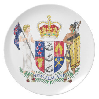 New Zealand Coat Of Arms Dinner Plate