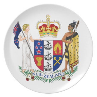 New Zealand Coat Of Arms Party Plate