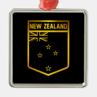 New Zealand Emblem Metal Ornament