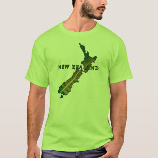 New Zealand Fern Map T-Shirt