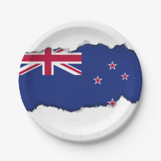 New Zealand Flag 7 Inch Paper Plate