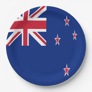 New Zealand Flag 9 Inch Paper Plate