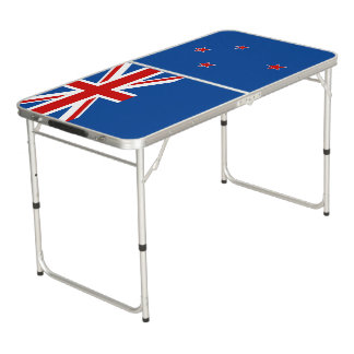 New Zealand flag Beer Pong Table