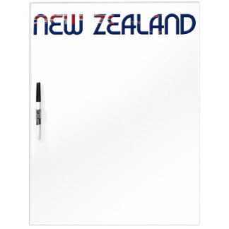 New Zealand Flag Colors Typography Dry Erase Board