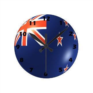 New Zealand Flag Design Wallclock