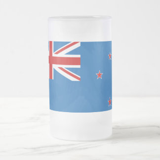 New Zealand flag Frosted Glass Beer Mug