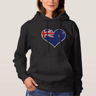 New Zealand Flag Heart Hoodie