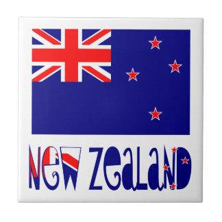 New Zealand Flag & Name Tile
