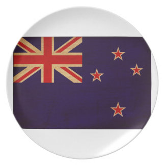 New Zealand Flag Party Plate