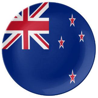 New Zealand Flag Porcelain Plate