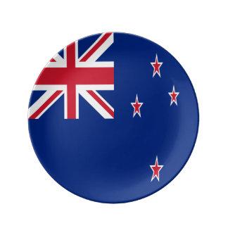 New Zealand Flag Porcelain Plates