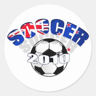 New Zealand Flag soccer ball Artwork Round Sticker