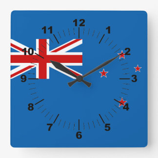 New Zealand flag Square Wall Clock