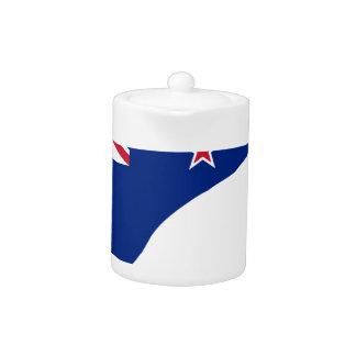 New Zealand Flag With Kiwi SIlhouette