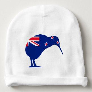 New Zealand Flag With Kiwi SIlhouette Baby Beanie