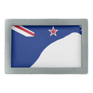 New Zealand Flag With Kiwi SIlhouette Belt Buckle